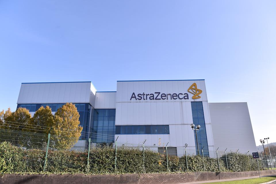 An exterior view outside AstraZeneca Millcourt center as the company targets for delivery of UK Covid vaccine by the end of 2020 on on Nov. 7, 2020 in Macclesfield, England. (Photo: Nathan Stirk via Getty Images)