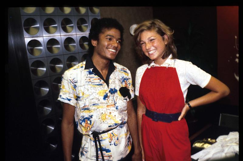 Michael Jackson with actress Tatum O''Neal (Credit: John Barr/Liaison/Getty Images)