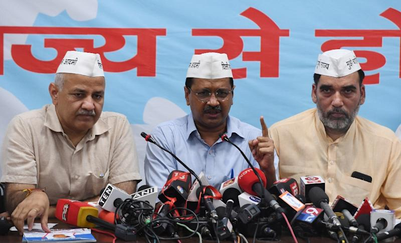 Delhi's chief minister Arvind Kejriwal has suffered more than most in India's notoriously rough and tumble political bullring (AFP Photo/Money SHARMA)