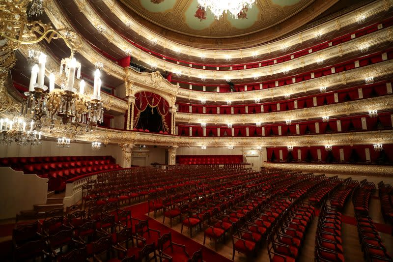 Russia's Bolshoi Theatre reopens with a socially distanced 'Don Carlo'