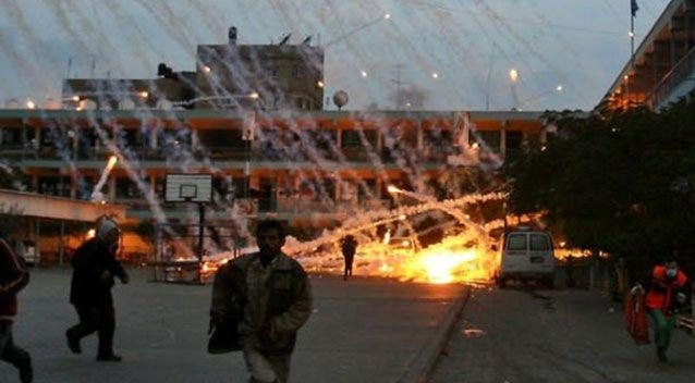 Israel was accused of war crimes when it used white phosphorus on Gaza in 2014. Source: Friends of Palestine
