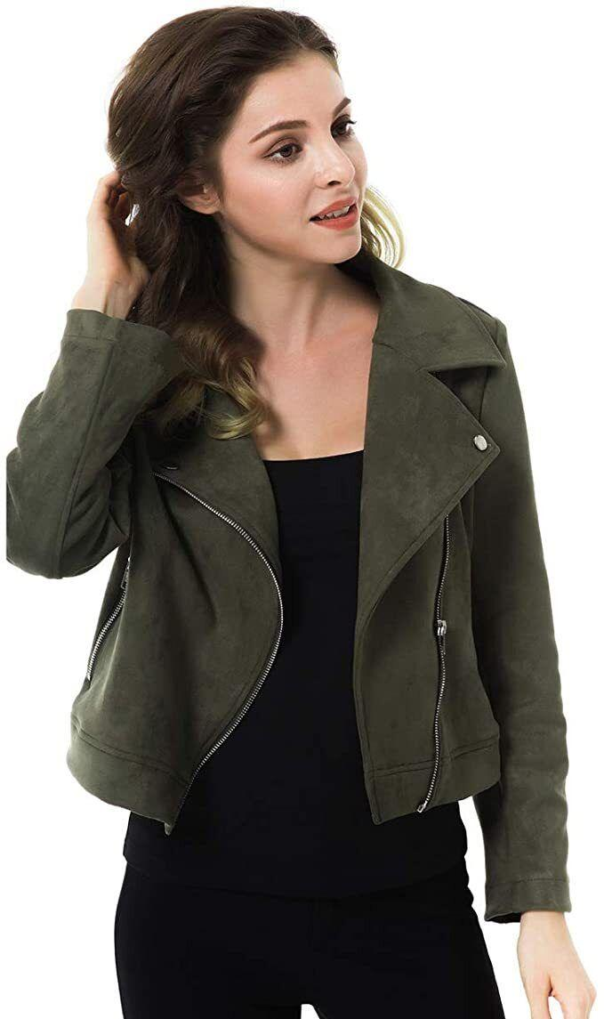 """You can wear this with anything.<br /><br /><strong>Promising review</strong>: """"I could've gone one size smaller if I wanted it more fitted but I like a loose feel. I love the buttery soft material and feel like a runway model in this jacket...<strong>I get so many compliments every time I wear it! I now have brown, burgundy, rose pink and can't wait to get the dark-spotted one too</strong>!"""" —<a href=""""https://www.amazon.com/gp/customer-reviews/R123EPBFPPKCPY?&linkCode=ll2&tag=huffpost-bfsyndication-20&linkId=b5106a9c4f8f25a0f5d63c636b22f7fb&language=en_US&ref_=as_li_ss_tl"""" target=""""_blank"""" rel=""""nofollow noopener noreferrer"""" data-skimlinks-tracking=""""5876227"""" data-vars-affiliate=""""Amazon"""" data-vars-href=""""https://www.amazon.com/gp/customer-reviews/R123EPBFPPKCPY?tag=bfchelsea-20&ascsubtag=5876227%2C33%2C35%2Cmobile_web%2C0%2C0%2C16489583"""" data-vars-keywords=""""cleaning,fast fashion"""" data-vars-link-id=""""16489583"""" data-vars-price="""""""" data-vars-product-id=""""21024277"""" data-vars-product-img="""""""" data-vars-product-title="""""""" data-vars-retailers=""""Amazon"""">Amazon Customer</a><br /><br /><a href=""""https://www.amazon.com/Apperloth-Suede-Jackets-Sleeve-Zipper/dp/B07L791BCF?&linkCode=ll1&tag=huffpost-bfsyndication-20&linkId=91749af52db7fffa265356e047fa37c6&language=en_US&ref_=as_li_ss_tl"""" target=""""_blank"""" rel=""""noopener noreferrer""""><strong>Get it from Amazon for $22.09+(available in sizes XS-XL and in nine colors).</strong></a>"""