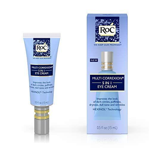 """<p><strong>RoC </strong></p><p>amazon.com</p><p><strong>$17.71</strong></p><p><a href=""""https://www.amazon.com/dp/B00CWY8O1O?tag=syn-yahoo-20&ascsubtag=%5Bartid%7C10055.g.26858923%5Bsrc%7Cyahoo-us"""" rel=""""nofollow noopener"""" target=""""_blank"""" data-ylk=""""slk:Shop Now"""" class=""""link rapid-noclick-resp"""">Shop Now</a></p><p>RoC excelled at tackling every eye-area issue in GH Beauty Lab eye cream testing, <strong>increasing firmness by 19% and hydration by 20%, reducing wrinkles by 10%</strong>, brightening dark circles, <em>and </em>depuffing — all with a price below the average treatment! Testers said it also helped improve the look of crow's feet and under-eye fine lines. """"I noticed within days that the issues around my eyes were diminished,"""" one said. </p>"""