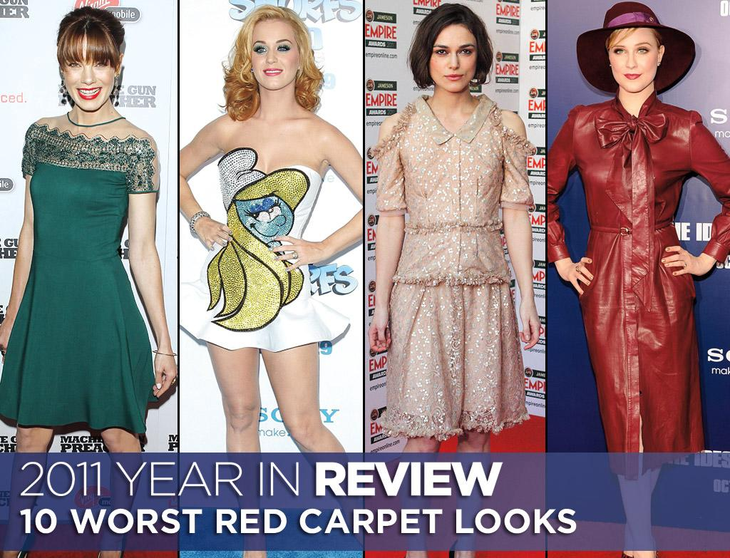 It's fair to say that in fashion there are hits and there are misses. Click ahead to see what we think are this year's worst red carpet looks.