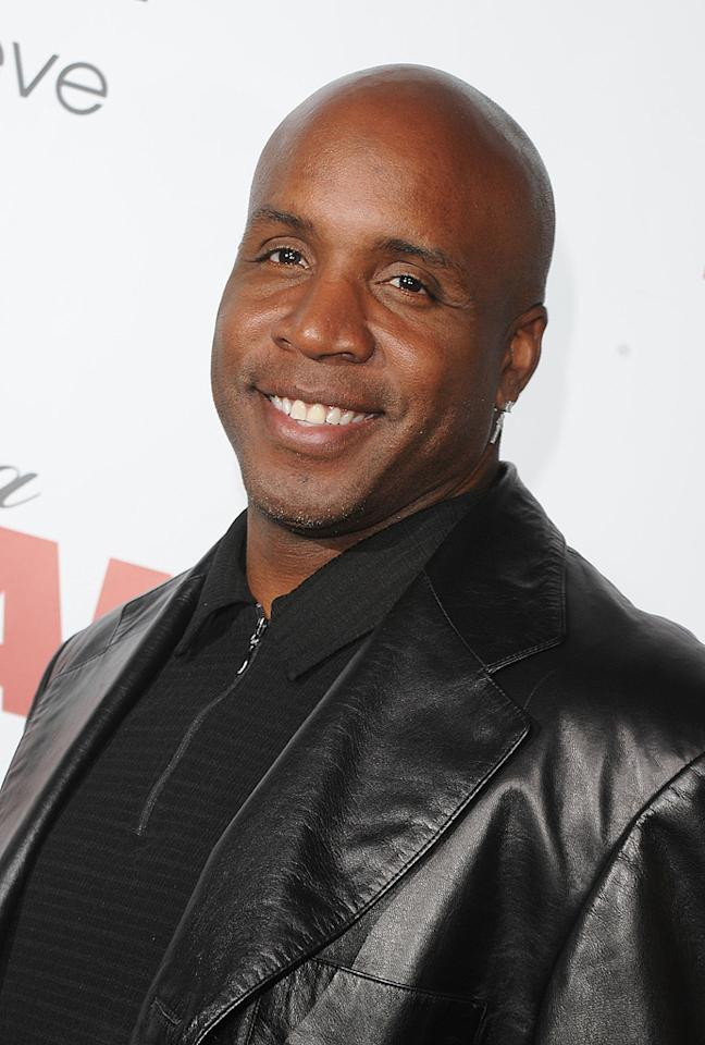 """<a href=""""http://movies.yahoo.com/movie/contributor/1802866917"""">Barry Bonds</a> at the Los Angeles premiere of <a href=""""http://movies.yahoo.com/movie/1810077967/info"""">Death at a Funeral</a> - 04/12/2010"""