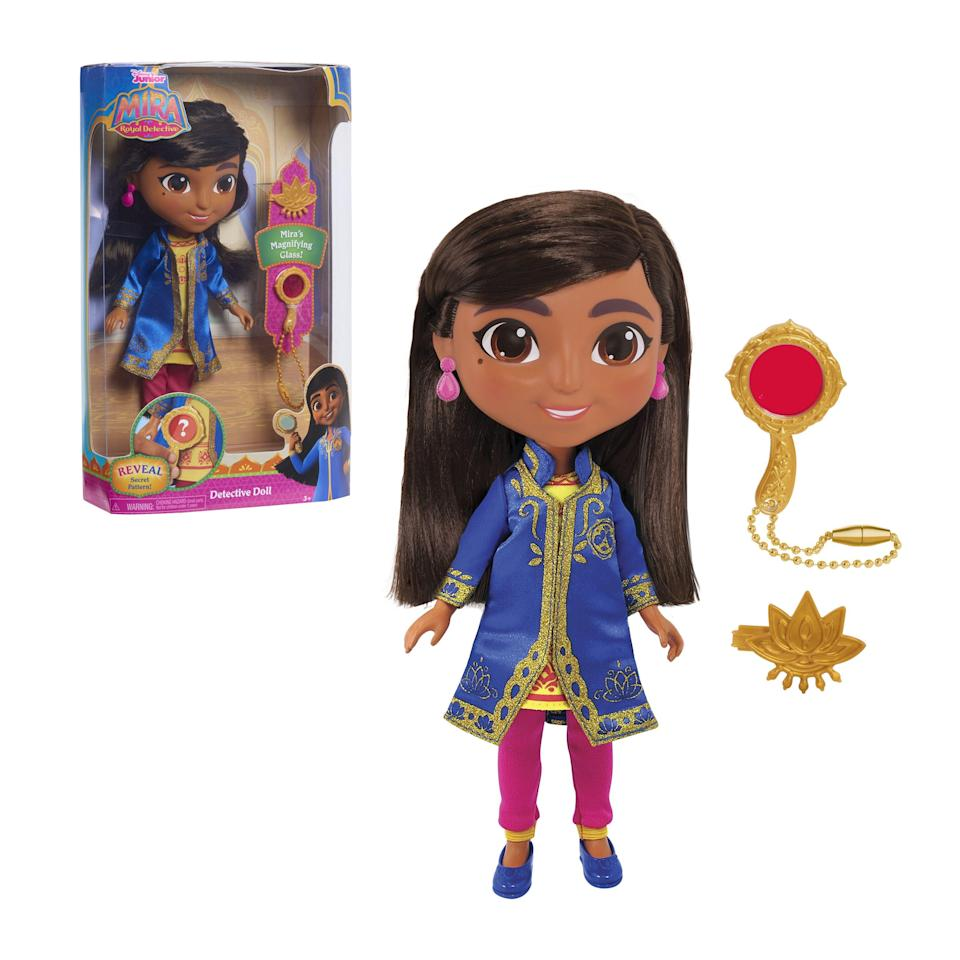 """<p><strong>Disney Junior</strong></p><p>walmart.com</p><p><strong>$14.84</strong></p><p><a href=""""https://go.redirectingat.com?id=74968X1596630&url=https%3A%2F%2Fwww.walmart.com%2Fip%2F393967743&sref=https%3A%2F%2Fwww.womansday.com%2Flife%2Fg34428616%2Fnew-toys-2020%2F"""" rel=""""nofollow noopener"""" target=""""_blank"""" data-ylk=""""slk:SHOP NOW"""" class=""""link rapid-noclick-resp"""">SHOP NOW</a></p><p>Royal Detective Mira is always sleuthing for a new case, and now so can any kid. The 10-inch doll comes in her iconic outfit from the Disney show, along with her handy dandy magnifying glass and accessories. <em>Ages 3+</em></p>"""
