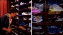 <p>We've reached the sneaker collection portion of this program. And if Josh Hutcherson's obsession seems intense, allow me to present...</p>