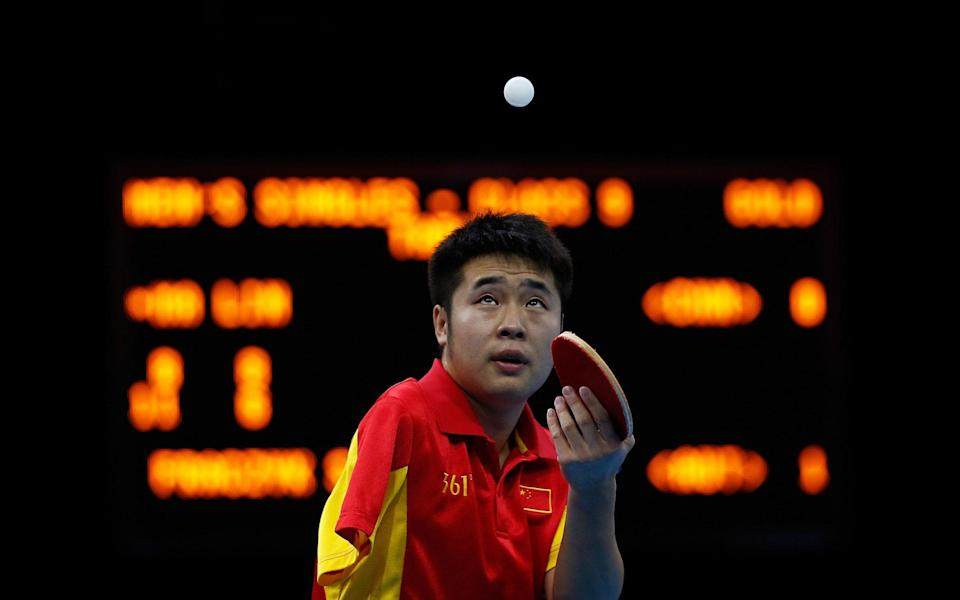 Meet Ma Lin: the Paralympic table tennis star who had his arm bitten off by a bear - GETTY IMAGES