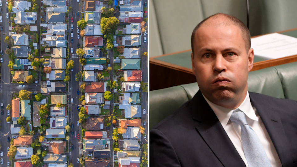 Josh Frydenberg has said homeowners will see their property values decline if Labor introduces its negative gearing policies. Images: Getty