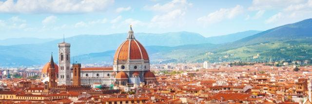 Panorama of Florence and Saint Mary.