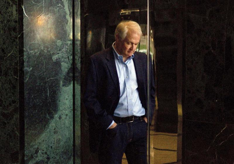 Donald Fehr, executive director of the NHPLA, is reflected in the doors of an elevator as he prepares to speak with the media following labor talks with the NHL in Toronto on Thursday, Aug. 23, 2012. Negotiations continue between the league and the players' union over collective bargaining as both sides try to avoid a potential lockout. (AP Photo/The Canadian Press, Chris Young)