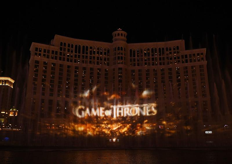 The famed Fountains of Bellagio in Las Vegas host a 'Game of Thrones' spectacle through April 13 (Photo: Getty Images for MGM Resorts)