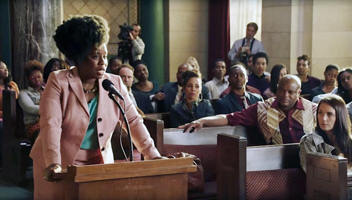 """<p>Based on a true story, Uzo Aduba plays Virginia Walden Ford, a single mother to a teenage son (played by Niles Fitch, whom you may recognize as teenage Randall on <em>This Is Us</em>), who fights to change the education system in Washington, D.C. As you can imagine, not everyone in the community is thrilled with her plans, and much drama ensues. </p> <p><a href=""""https://www.netflix.com/watch/80218872?source=35"""" rel=""""nofollow noopener"""" target=""""_blank"""" data-ylk=""""slk:Available to stream on Netflix"""" class=""""link rapid-noclick-resp""""><em>Available to stream on Netflix</em></a></p>"""