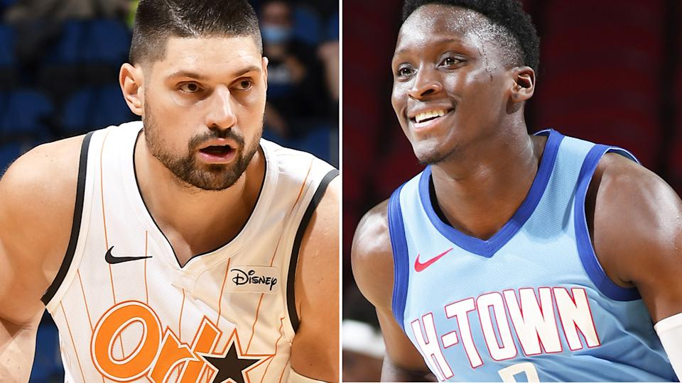 Nikola Vucevic and Victor Oladipo were two of the biggest names to be moved ahead of the NBA's trade deadline. Pictures: Getty Images