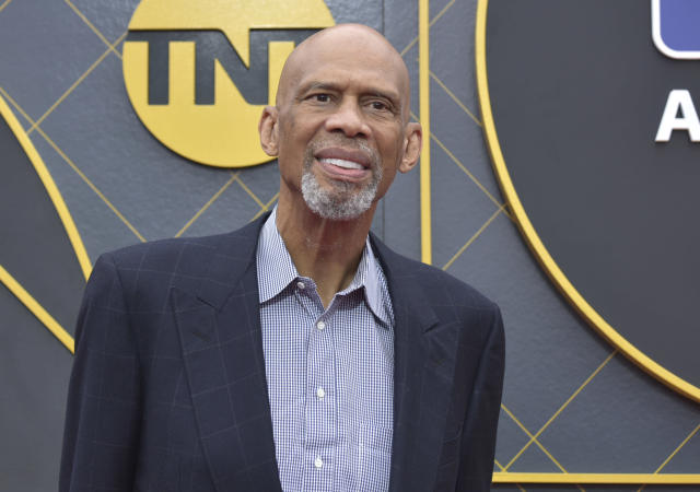 Kareem Abdul-Jabbar arrives at the NBA Awards on Monday, June 24, 2019, at the Barker Hangar in Santa Monica, Calif. (Photo by Richard Shotwell/Invision/AP)
