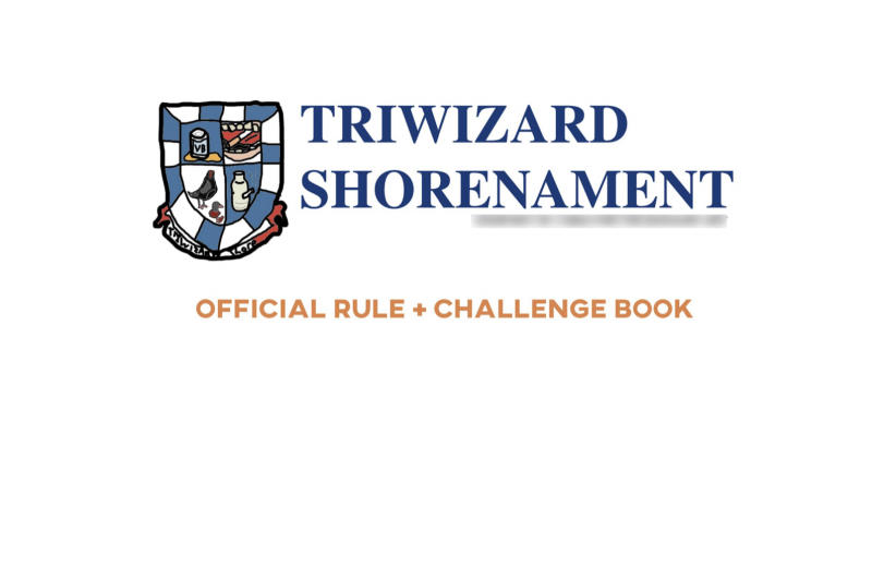 Pictured is the front of the Twiwizard Shorenament booklet