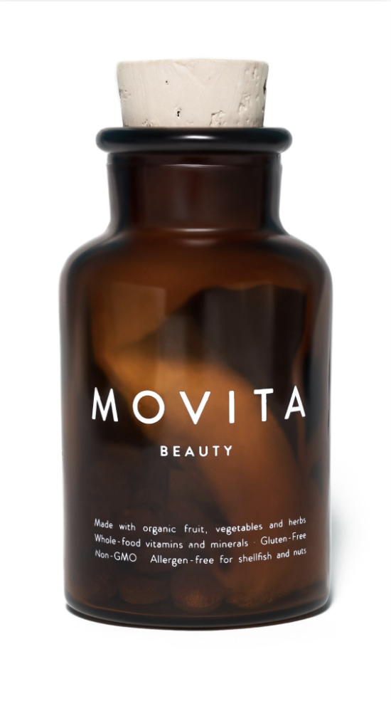 """<p><strong>Movita Organics</strong></p><p>movitaorganics.com</p><p><strong>$26.50</strong></p><p><a href=""""https://www.movitaorganics.com/shop/beauty-vitamins-hair-nail-skin/"""" rel=""""nofollow noopener"""" target=""""_blank"""" data-ylk=""""slk:Shop Now"""" class=""""link rapid-noclick-resp"""">Shop Now</a></p><p>With an ingredient list that reads more like a Whole Foods order, this multivitamin is packed full of fermented superfoods (for easier digestion on an empty stomach), antioxidants, and proven hair-boosting ingredients like biotin and turmeric to help support healthy hair, skin, and nails from the inside-out. We also love that it's organic, allergen-free, housed in a glass bottle, and it's Black-owned. </p>"""