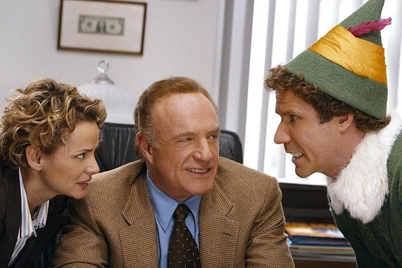 Hilarious: Will Ferrell (right) as Buddy the Elf