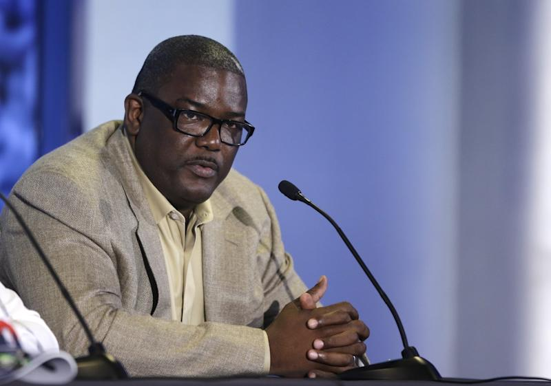 Joe Dumars in 2013 during his tenure as president of basketball operations for the Detroit Pistons. (AP)