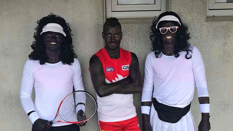 'Unacceptable': Aussie footballers' blackface as Williams sisters sparks fresh racism storm