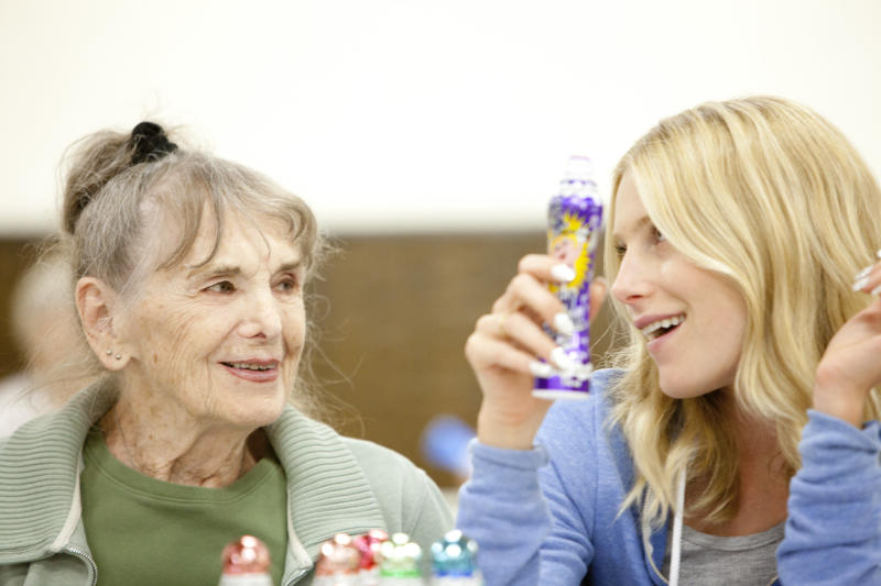 """This film image released by Music Box Films shows Besedka Johnson, left, and Dree Hemingway in a scene from the film """"Starlet."""" Johnson, who became an actress at age 85 and won praise for last year's movie """"Starlet,"""" died on April 4 at Glendale Memorial Hospital of complications following surgery for a bacterial infection, her son, Jim Johnson, told the Los Angeles Times. Besedka Johnson played the cranky widow Sadie, who befriends a character played by Dree Hemingway in last year's movie. It was her only role. She was 87. (AP Photo/Music Box Films, Augusta Quirk)"""