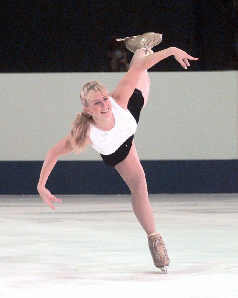 Tonya Harding performing in the pro figure skating championships in 1999.