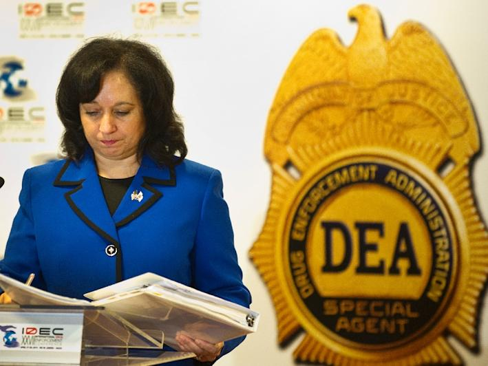 Michele Leonhart, the head of the US Drug Enforcement Administration is retiring, following a scandal involving drug agents attending orgies with cartel-hired prostitutes abroad