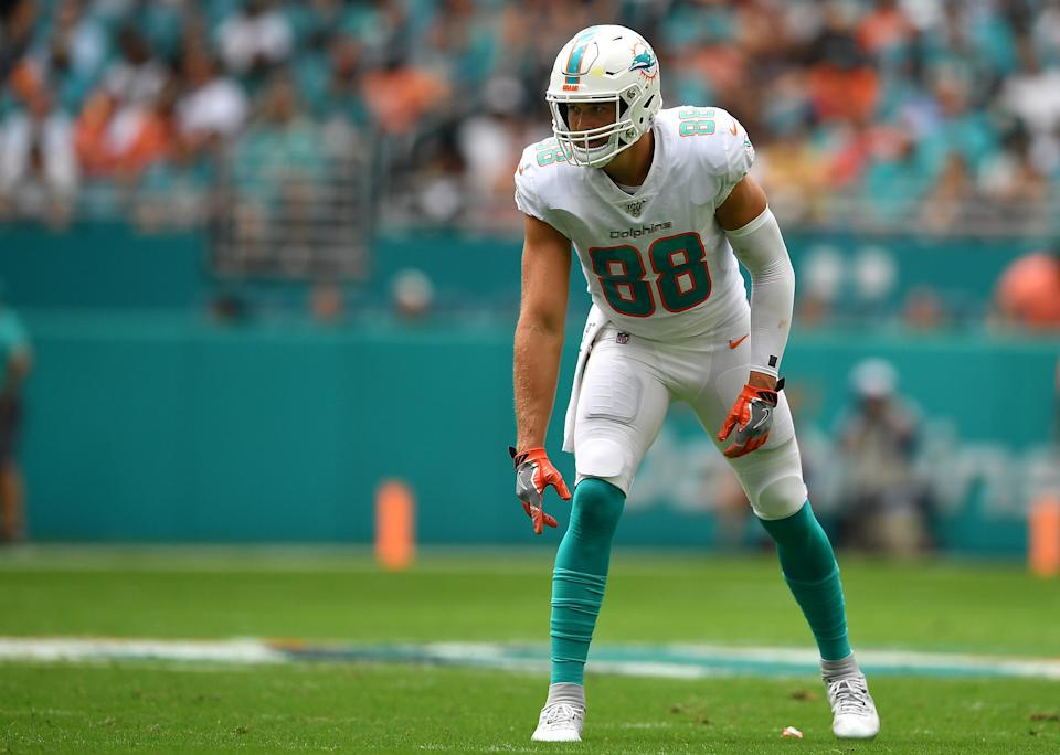 Mike Gesicki #88 of the Miami Dolphins