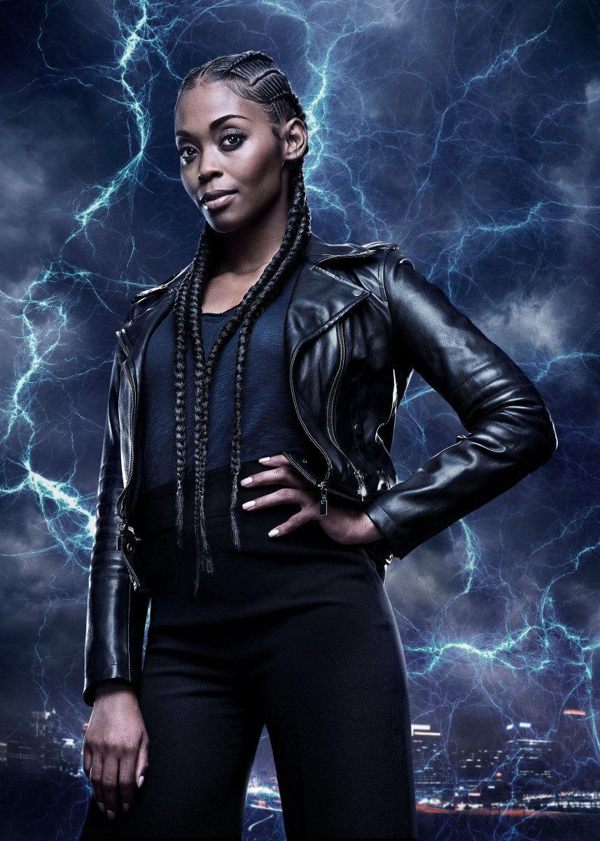 Nafessa Williams as Anissa Pierce in <em>Black Lightning</em>. (Photo: Mark Hill/The CW ©2018 The CW Network, LLC. All rights reserved.)