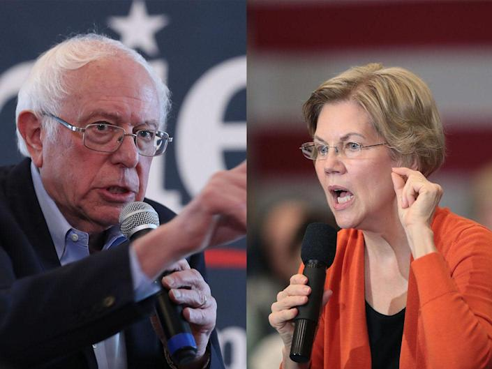Bernie Sanders and Elizabeth Warren: Getty Images