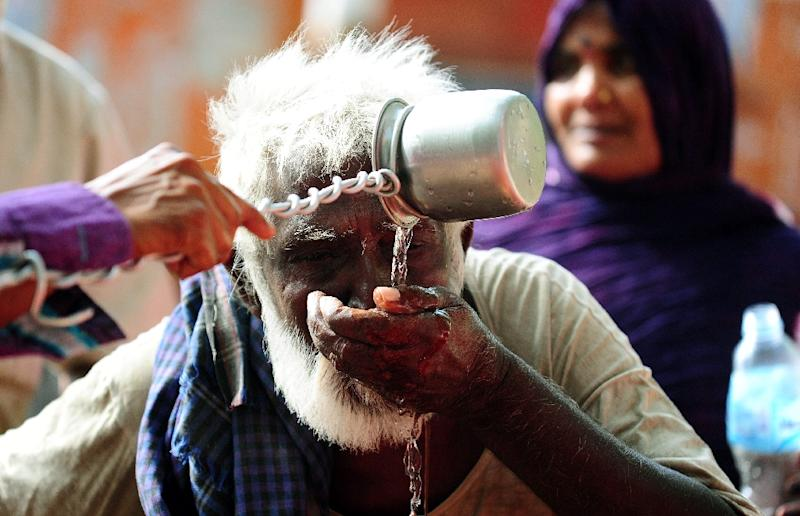 India declares a heatwave when the maximum temperature hits 45 degrees Celsius, or five degrees higher than the average for the area in previous years
