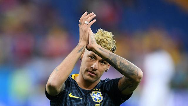 After missing Monday's training following the 1-1 draw with Switzerland, Brazil's star player and talisman Neymar limped out on Tuesday.
