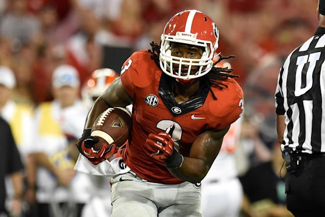 Georgia RB Todd Gurley's game against Clemson commemorated with graffiti wall (Photo)