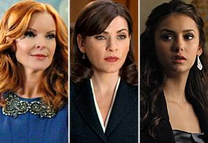 Desperate Housewives, The Good Wife, Vampire Diaries | Photo Credits: Danny Feld/ABC; David Giesbrecht/CBS; Quantrell Colbert/The CW