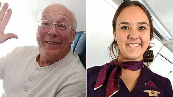 Dad flew with flight attendant daughter to keep her company