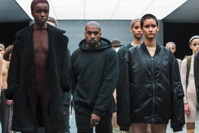 Kanye West at his Adidas fashion show in New York. (Reuters)