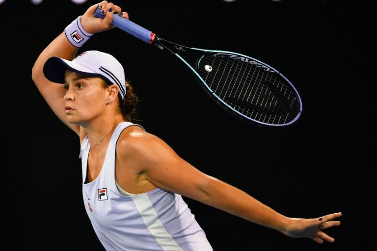 Australia's Ashleigh Barty beat Shelby Rogers of the US