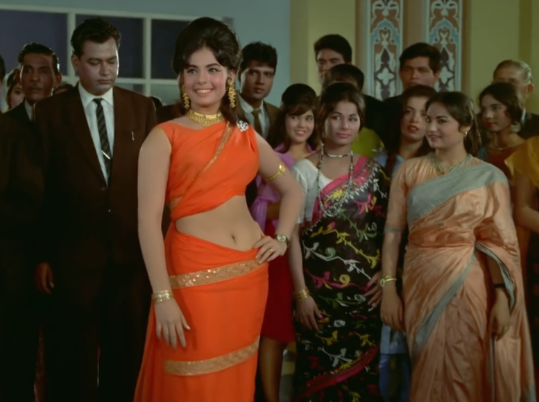 Mumtaz's flaming orange pre-pleated saree remains one of the most sought after looks of all time.