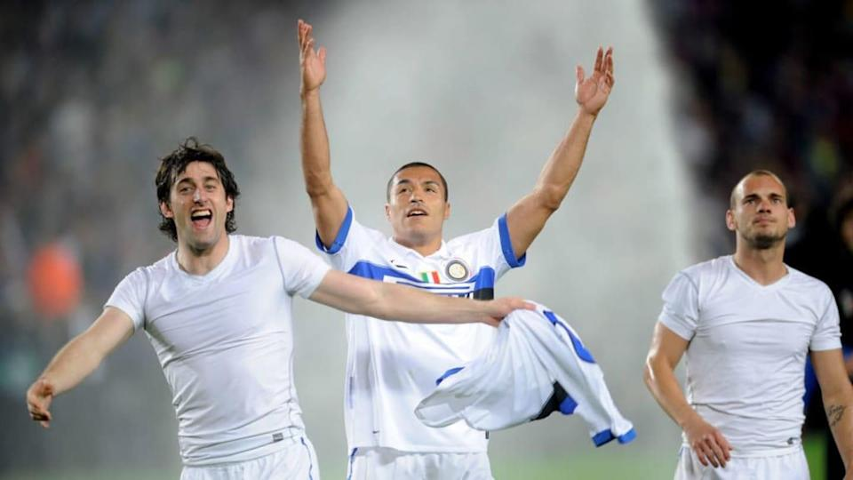 Milito, Cordoba e Sneijder | Michael Regan/Getty Images
