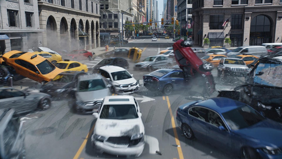 Participants in the experiment watched the self-driving car action scene from 2017 blockbuster 'Fast & Furious 8'. (Universal)