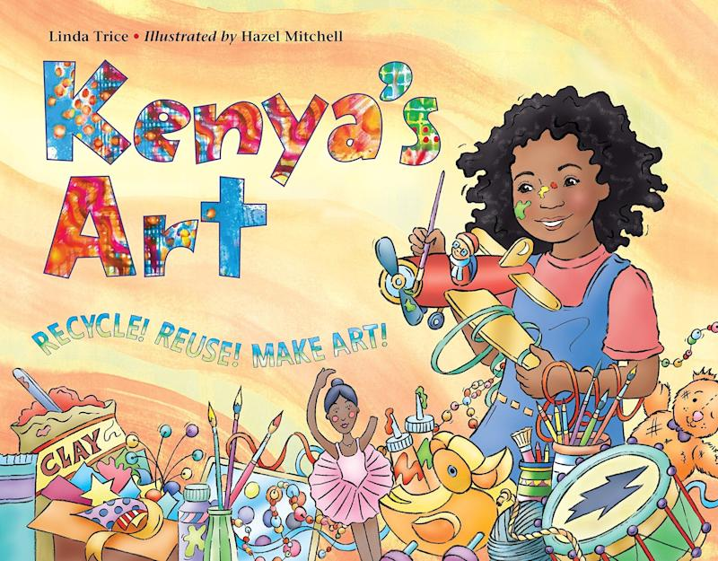 "The title character draws inspiration from a museum recycling exhibit and transforms old, broken toys and other items into art. <i>(Available <a href=""https://www.amazon.com/Kenyas-Art-Linda-Trice/dp/1570918481"" target=""_blank"" rel=""noopener noreferrer"">here</a>)<br /></i>"