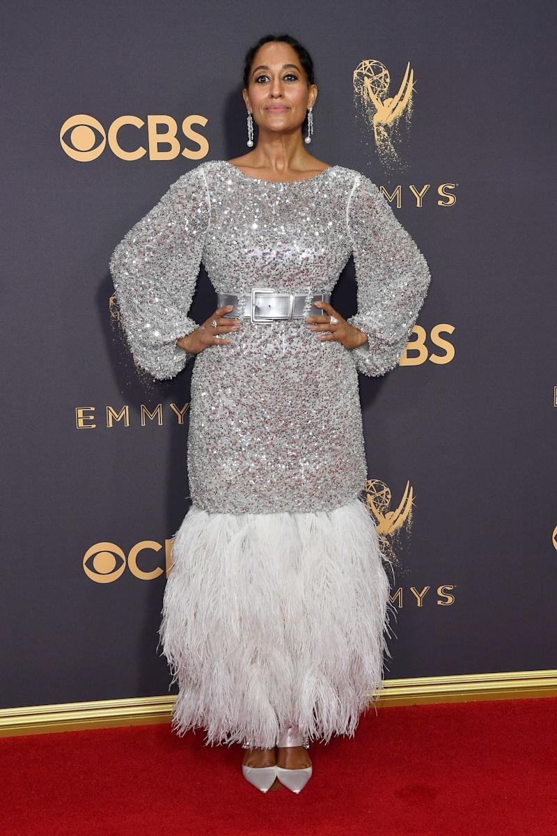 While Tracee Ellis Ross has been known to dazzle on the red carpet (her 2016 Ralph Lauren white grecian gown was super chic) the actress outdid herself with last year's look, a Chanel Haute Couture gown, worn to the 69th Annual Primetime Emmy Awards at Microsoft Theater on September 17, 2017 in Los Angeles, California. (Photo by John Shearer/WireImage)