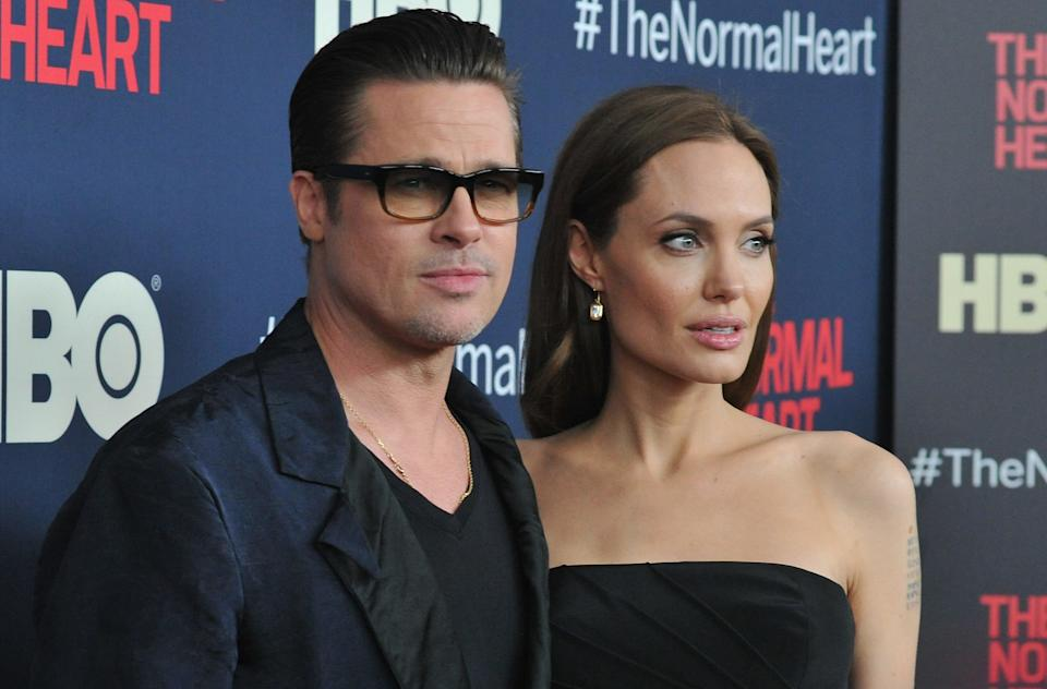 NEW YORK, NY - MAY 12:  Brad Pitt and Angelina Jolie attend the New York premiere of