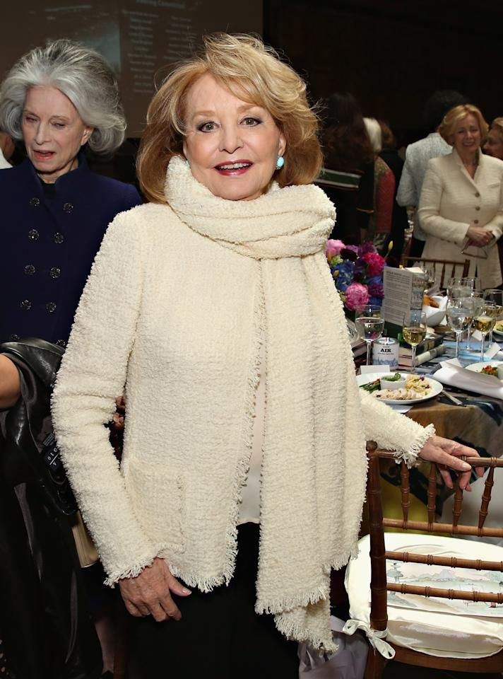 NEW YORK, NY - APRIL 13:  TV personality Barbara Walters attends the New York Public Library Lunch 2016: A New York State of Mind at The New York Public Library - Stephen A. Schwarzman Building on April 13, 2016 in New York City.  (Photo by Cindy Ord/Getty Images)