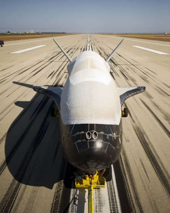Designed to be launched like a satellite and land like an airplane, the second X-37B Orbital Test Vehicle, built by Boeing for the United States Air Force's Rapid Capabilities Office, is an affordable, reusable space vehicle.