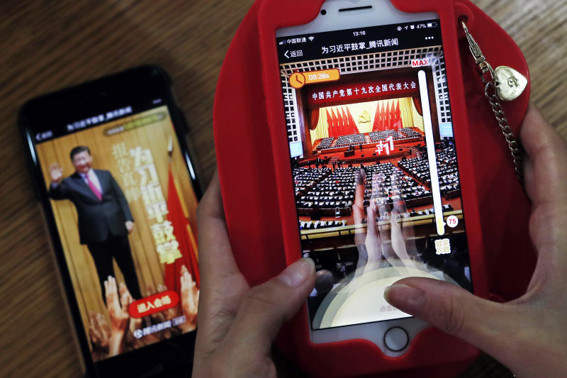 Viral smartphone game lets ordinary Chinese 'clap' for Xi