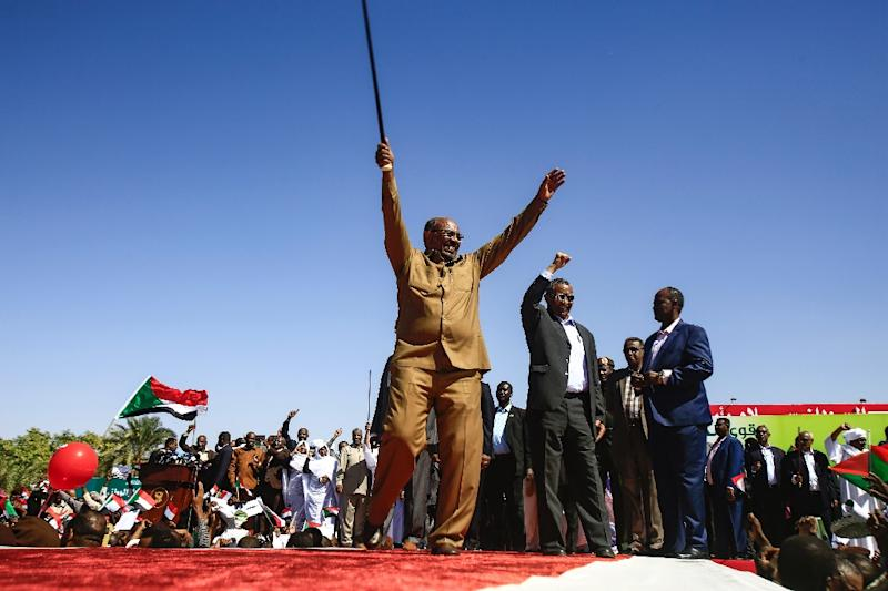 In this file photo, Sudan's President Omar al-Bashir appears during a rally in the Green Square in Khartoum on January 9, 2019 (AFP Photo/ASHRAF SHAZLY)