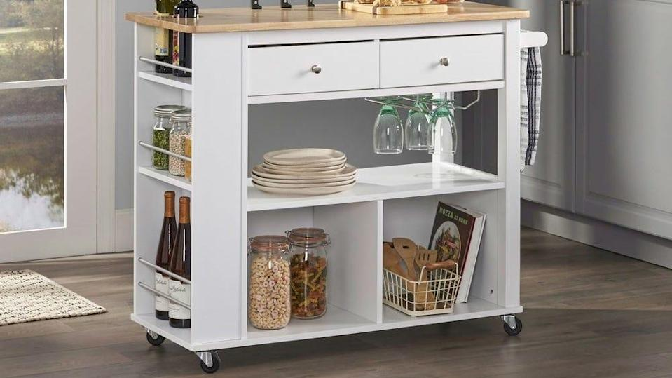 Get extra storage galore with this wheeled cart from Christopher Knight Home.