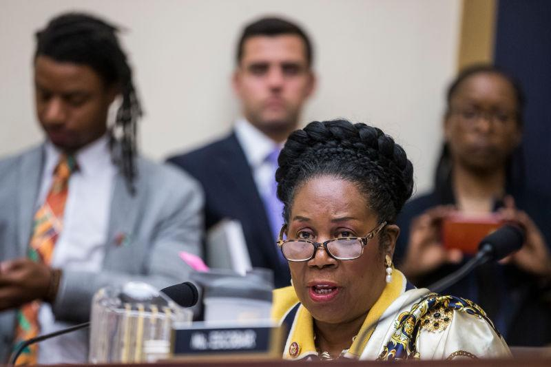 Rep. Sheila Jackson Lee (D-Texas) speaks during a hearing on slavery reparations held by the House Judiciary Subcommittee on the Constitution, Civil Rights and Civil Liberties on June 19, 2019 in Washington, DC. The subcommittee debated the H.R. 40 bill, which proposes a commission be formed to study and develop reparation proposals for African-Americans.