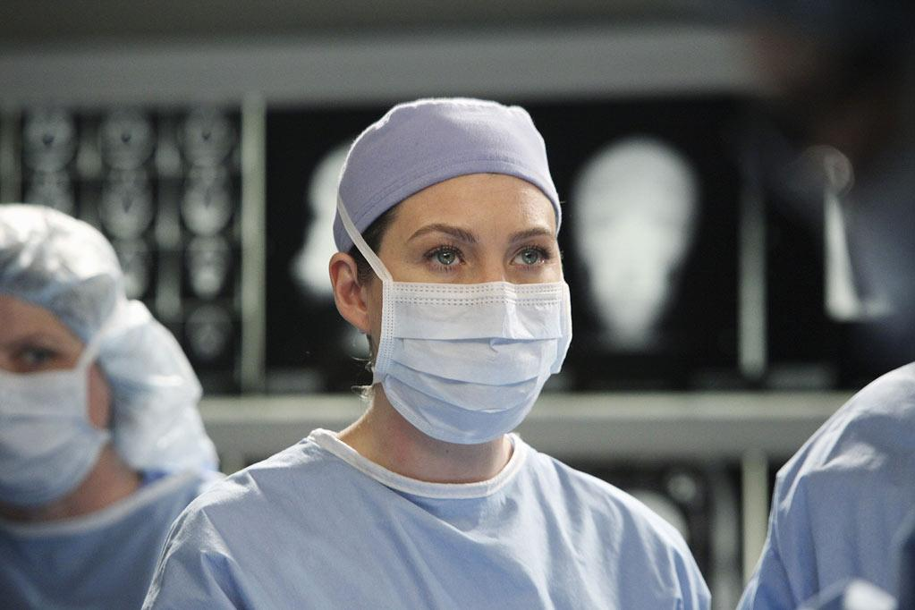 "Ellen Pompeo as Meredith Grey in the ""<a href=""/grey-39-s-anatomy/show/36657"">Grey's Anatomy</a>"" musical episode, ""Song Beneath the Song."""